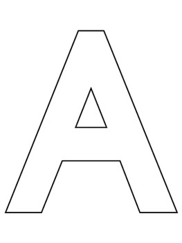 Alphabet Letter Template Set {UPPERCASE + LOWERCASE} by My
