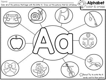 Alphabet Letters and Sounds {Alphabet Color & Cross} by