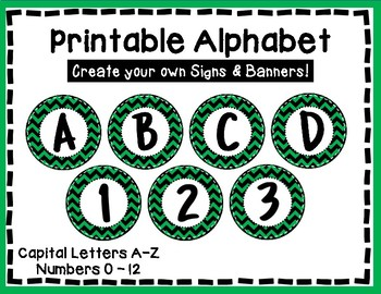 alphabet letters for banners