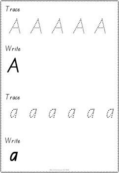 Alphabet MEGA Bundle QLD Beginners Font: Worksheets