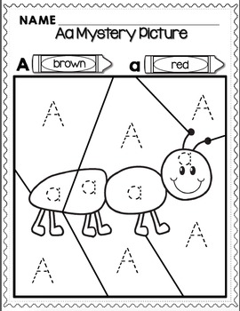 Alphabet Mystery Pictures for Transitional Kindergarten