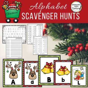 Alphabet Scavenger Hunt Christmas By Differentiation Station Creations
