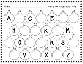 Alphabet Sequence Printables {Winter Theme} by Kinders in