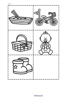 Alphabet Booklets Beginning Sounds Cut and Paste b/w by