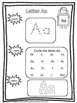 Alphabet Trace it, Find it, Color It Worksheets. Preschool