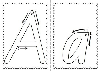 NSW Foundation Font Alphabet Tracing Sheets by Miss Jacobs