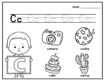 Alphabet Tracing Worksheets, Alphabet Coloring Page