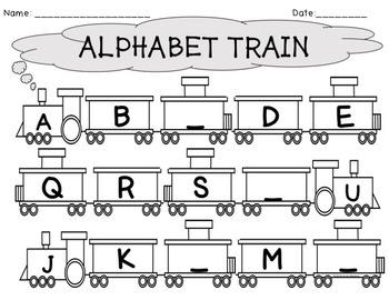 Alphabet Train Writing Worksheets by The Wonderful World