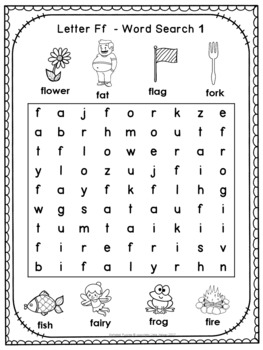 Free Alphabet Word Search Puzzles Letter F by little