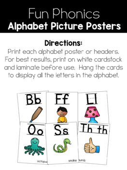 Alphabet and Word Wall Headers Posters {White Version} by