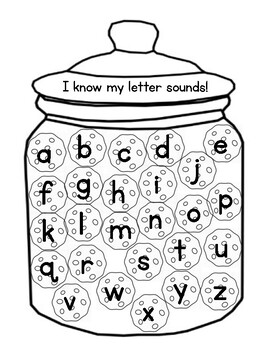 Alphabet letter names and sounds data tracker by Kayla