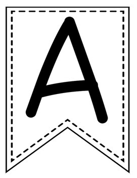 Alphabet Banner: Letters Make Any Words: Back to School