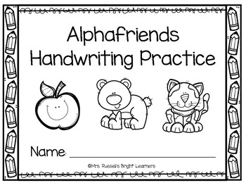 Alphafriends Handwriting Pages by Mrs Russells Bright