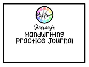 Alphafriends Handwriting Practice Journal by Mrs Prices