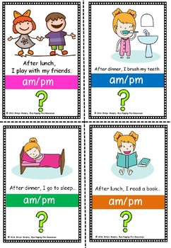 Am PM flashcards by Eye Popping Fun Resources | Teachers Pay Teachers