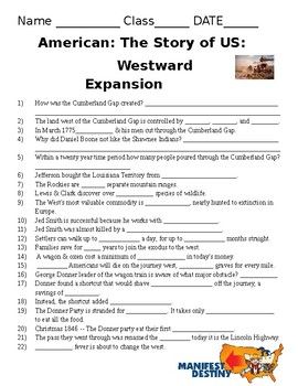 America The Story Of Us Westward Answers : america, story, westward, answers, America, Story, Westward, Worksheet, Promotiontablecovers