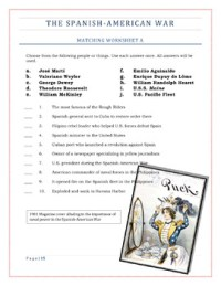 American Imperialism Worksheets -- Set 2: The Spanish ...