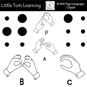British Sign Language (BSL) and Braille Clip Art by Little