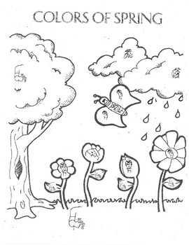 American Sign Language Spring Coloring Page by Team Tulley