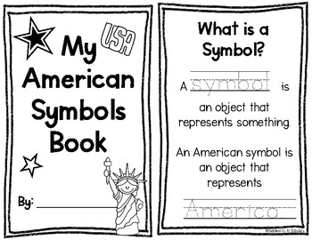 American Symbols Booklet Kindergarten by Sublime Little