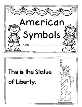 American Symbols Student Reproducible Book by Angelica