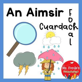 An Aimsir cuardach focal (Irish Wordsearch weather theme