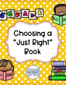 also anchor charts for choosing just right books th grade tpt rh teacherspayteachers