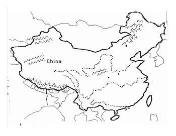 Blank map of ancient china. Chinese Geography: Readings