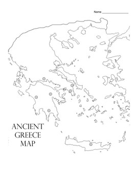 Ancient Civilizations: Greece Map Activity by Scholl Math
