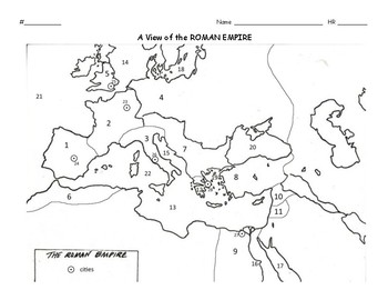 Ancient Civilizations: Roman Empire Map Activity by Scholl
