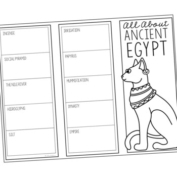 ANCIENT EGYPT Research Brochure Template, World History