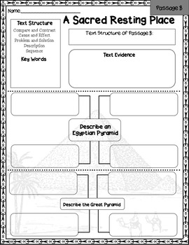 Ancient Egypt Nonfiction Text Structure Passages by Red