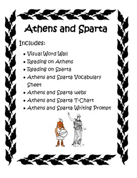Ancient Greece: Athens and Sparta Activity Pack by Carissa