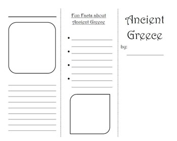 Ancient Greece Brochure Project By Ashley Montejo TpT