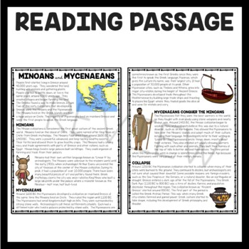 Ancient Greece Minoans And Mycenaeans Reading