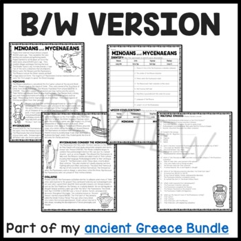 Ancient Greece: Minoans and Mycenaeans Reading