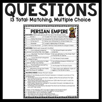Persia Middle School Social Stus Worksheet. Persia. Best