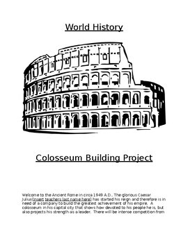 Ancient Rome Colosseum building project by William O'Bryan