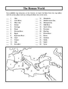 Ancient Rome, The Empire Unit, Handouts and Worksheets by