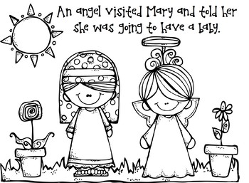 Angel Visits Mary Bible Story Craft and Activity by