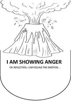Anger Volcano Emotional Regulation Poster Worksheet By