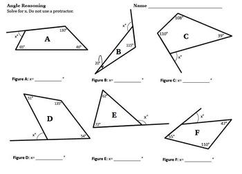 Angle Reasoning Common Core 7.G.B.5 Task Card BUNDLE