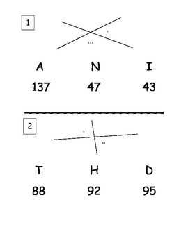 Angle Relationships Scavenger Hunt by iTeach Math with