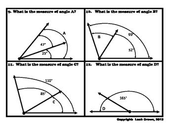 Geometry: Angle Measurement Game, Find the Missing Angle