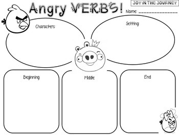 Angry VERBS Bundle by Joy in the Journey by Jessica Lawler