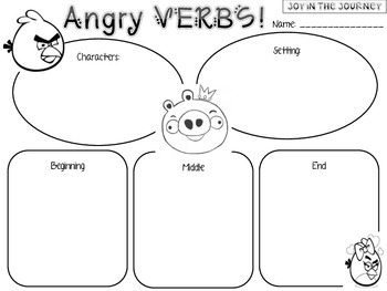 Angry Verbs Writing Prompts Packet by Joy in the Journey