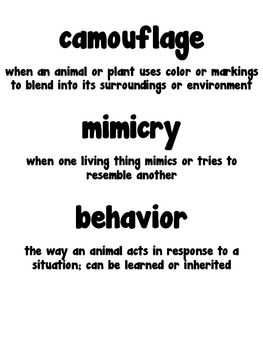 Animal Adaptations, Behaviors, and Traits by Alyssa Absher