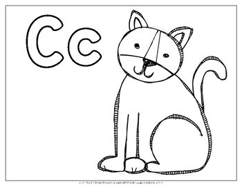 Animal Alphabet Coloring Pages by Miss M's Reading