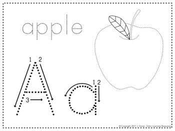 Alphabet Tracing and Coloring Worksheets by ViaNova