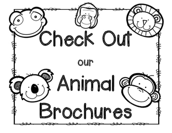 Animal Brochure {Works with any Nonfiction Text!} by
